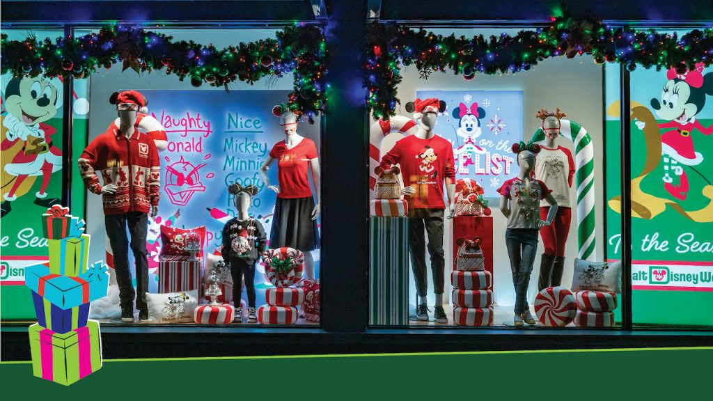 Holiday Window Display at Walt Disney World Resort