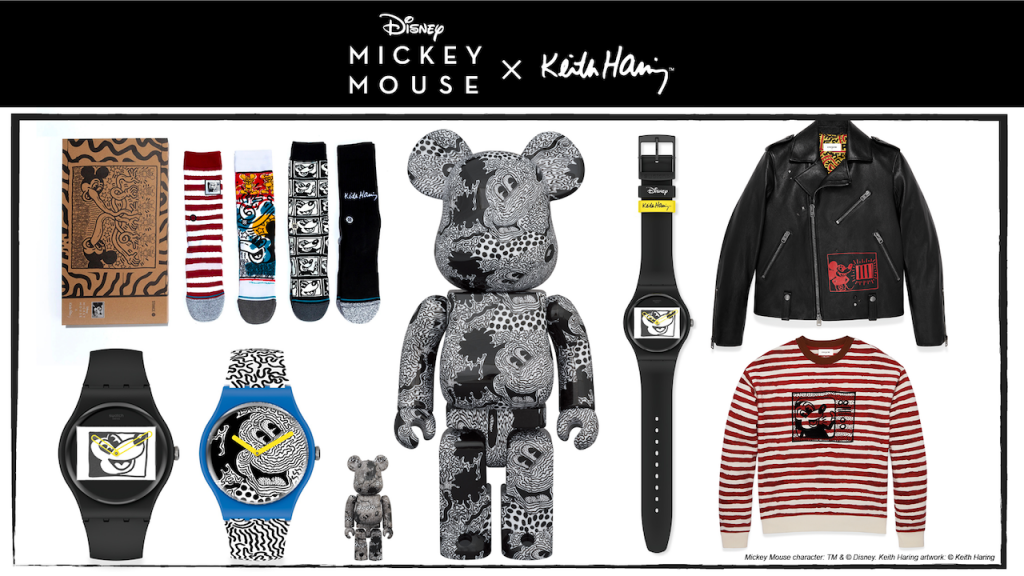History of Mickey Mouse and Iconic Pop Artist Keith Haring new products
