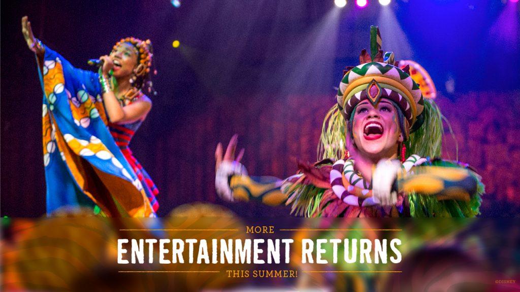 More entertainment returns this summer