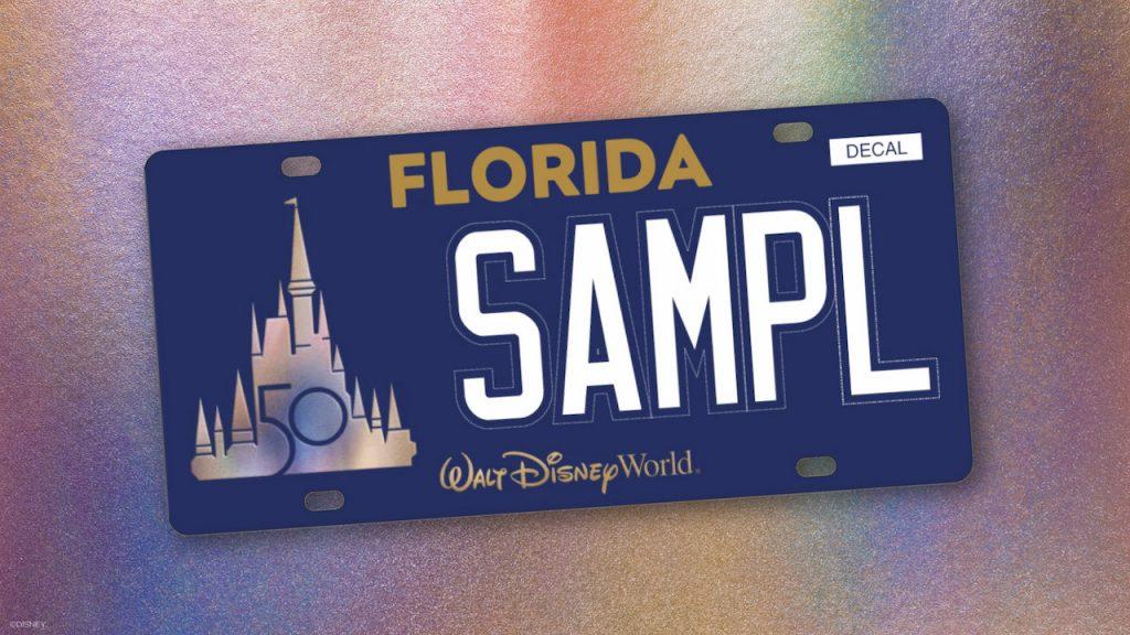 EARidescent Walt Disney World Resort 50th anniversary License Plate