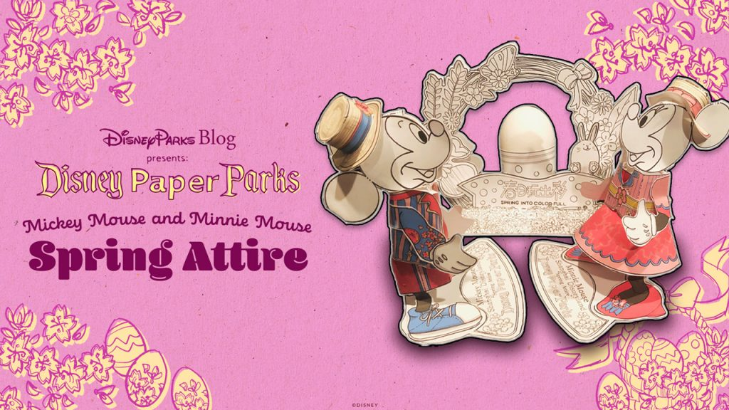Disney Parks Blog Presents: Disney Paper Parks - Mickey Mouse and Minnie Mouse in their Spring Attire
