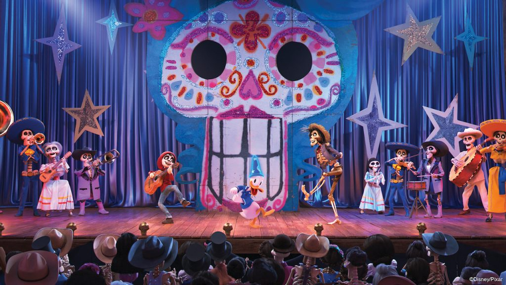 New scene from Disney and Pixars Coco coming to Mickeys PhilharMagic